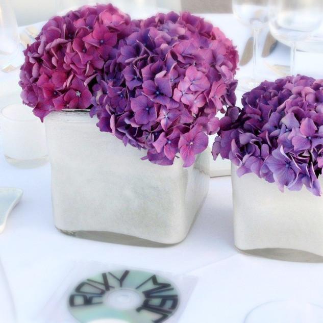 Vases de Verre opaque blanc