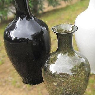 Jarre Ceramique & Verre fumé noir