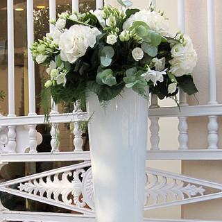 Vase Verre Opaque blanc