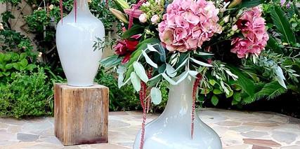 Compositions florales arrivée des invités