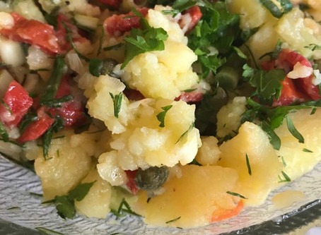 Warm Potato salad without mayonnaise