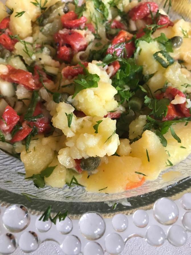 Warm Potato salad without mayonnaise