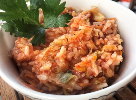 Greek Cabbage and Rice