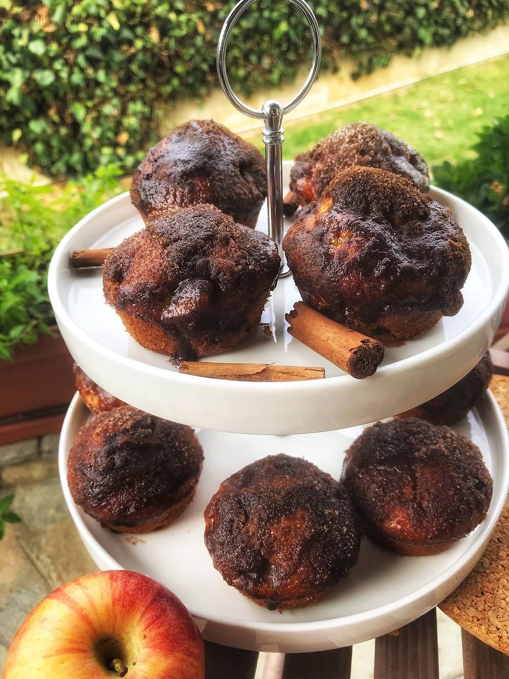 How to make apple muffins with olive oil and honey