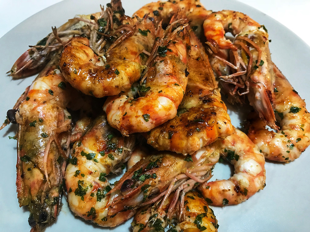 How to make pan seared shrimps with lemon and parsley