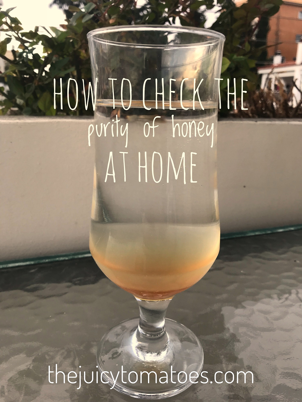 how to check the purity of honey at home