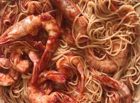 Shrimp - Tomato Sauce Pasta