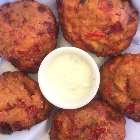 Oven Baked Greek Tomato Patties (Tomato-keftethes)