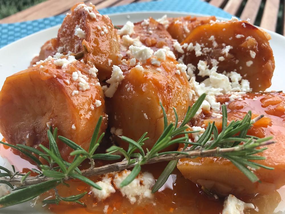 How to make the greek potato stew called yiachni