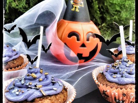 Wholegrain Pumpkin cupcakes with Honey & Chocolate Drops