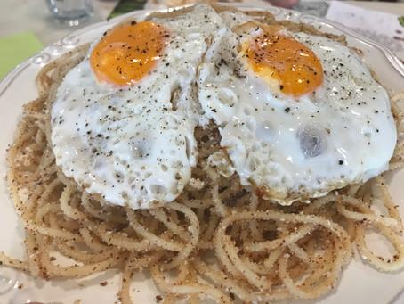 "A Spaghetti dish from the Mani region called ""Tsouchti"""