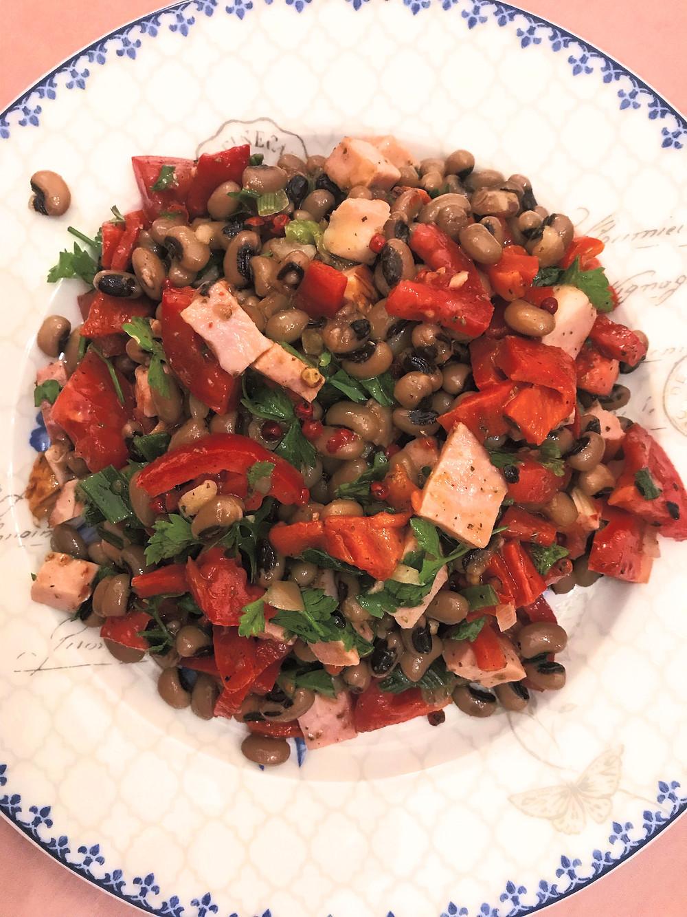 How to make Greek black eyed peas salad