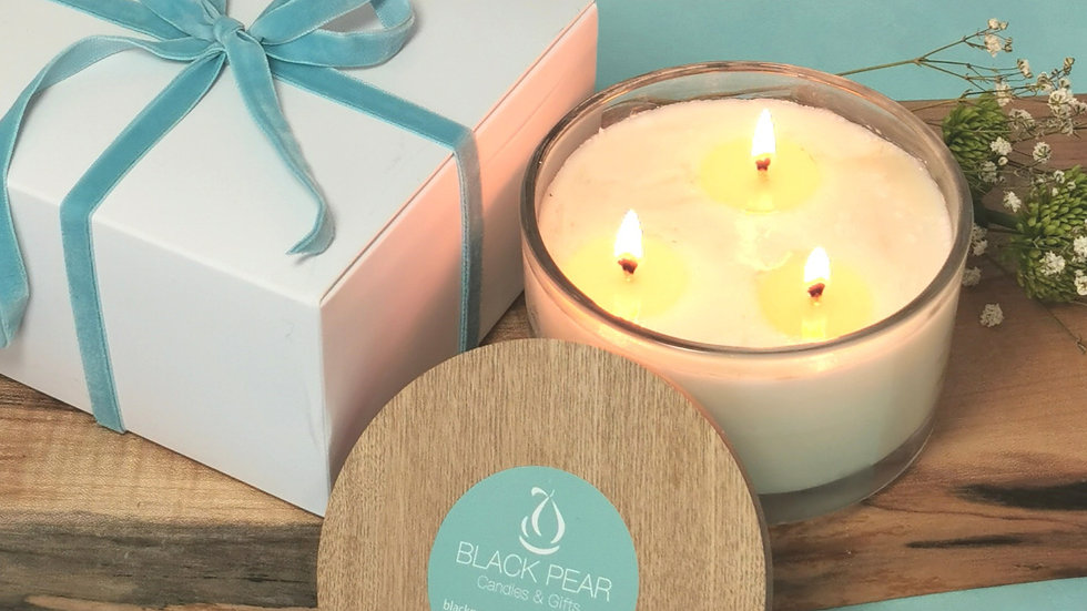 3 wick Candle Gift Box