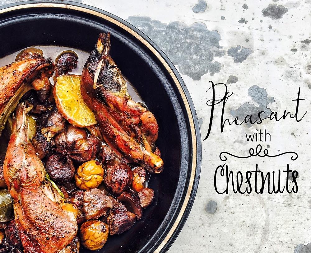 Pheasant with Chestnuts Tajine