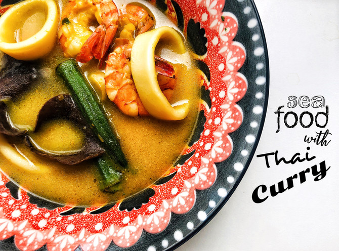Thajská polévka z mořských plodů