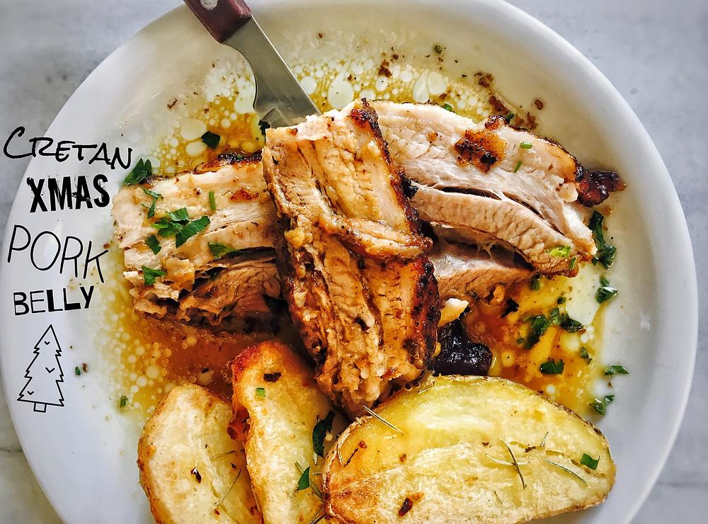 Cretan pork belly