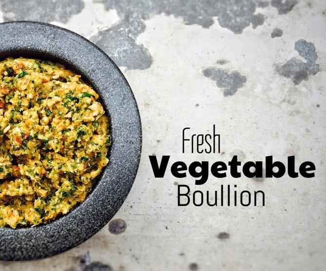 Čerstvý zeleninový bujón