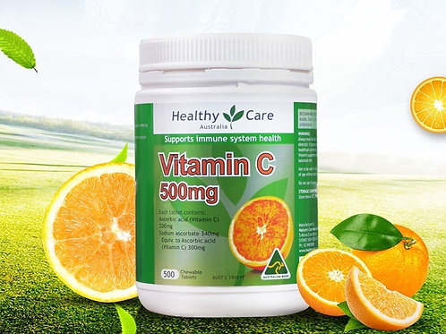 New Healthy Care Vitamin C 500 Tablets