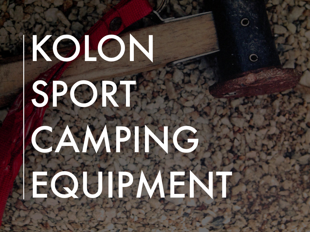 Kolon Sport Camping Equipment Project