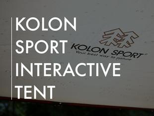 Kolon Sport Interactive Tent Project