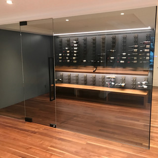 Glass Kitchen Wine Display
