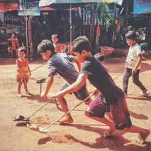 Kid Playing in the village