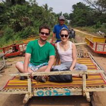 Bamboo Trian in Battambang City