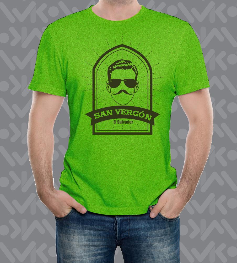 San vergon color verde haspaeado