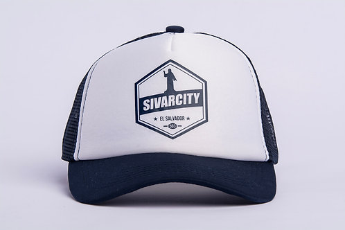 Gorra SIVAR CITY color blanco/azul