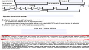 Carta de invitación: consecuencias para el solicitante si el invitado no regresa al país de origen