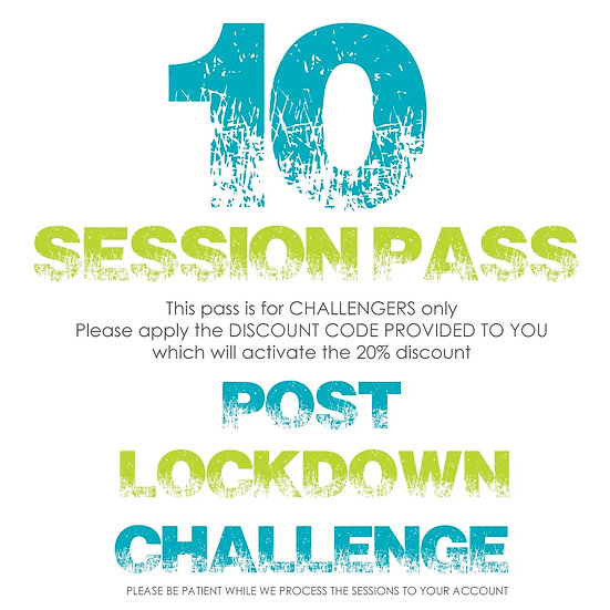 CHALLENGER - 10 SESSION PASS (Apply coupon to receive discount)