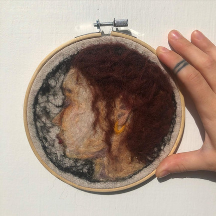 Felted Self Portrait