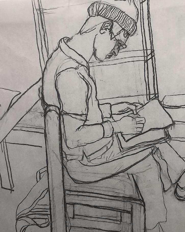 15 Min Contour Drawing of Jacob