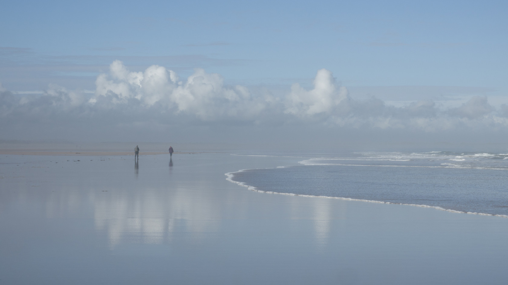 Walking along with the tide