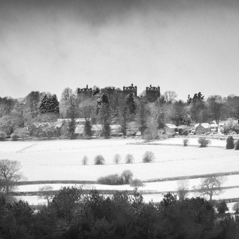Riber Castle in the snow