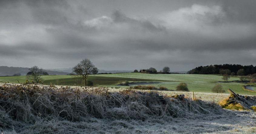 Frosty view from High Lane