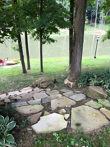 Residential Landscaping with boulders an