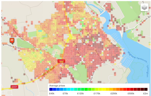 Lymington Heat Map