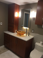 Bathroom remodel by: K.M. Forand Inc.