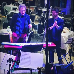 Hugh Nankivell (conductor) and Matt Regan (choir leader)
