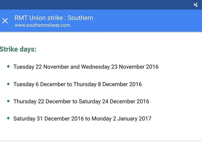Rail Strikes.