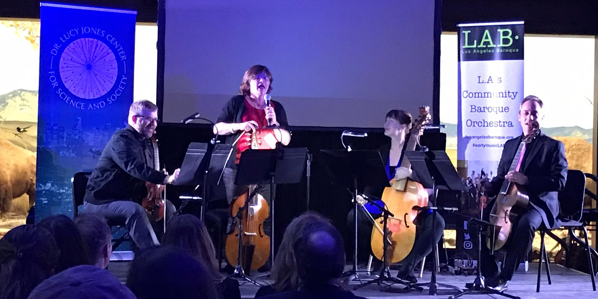 "LAB ""Night of Ideas"" Feb 1, 2019 Dr. Lucy Jones introducing"