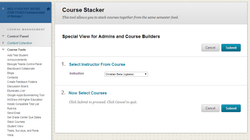 Choose the Courses to Combine