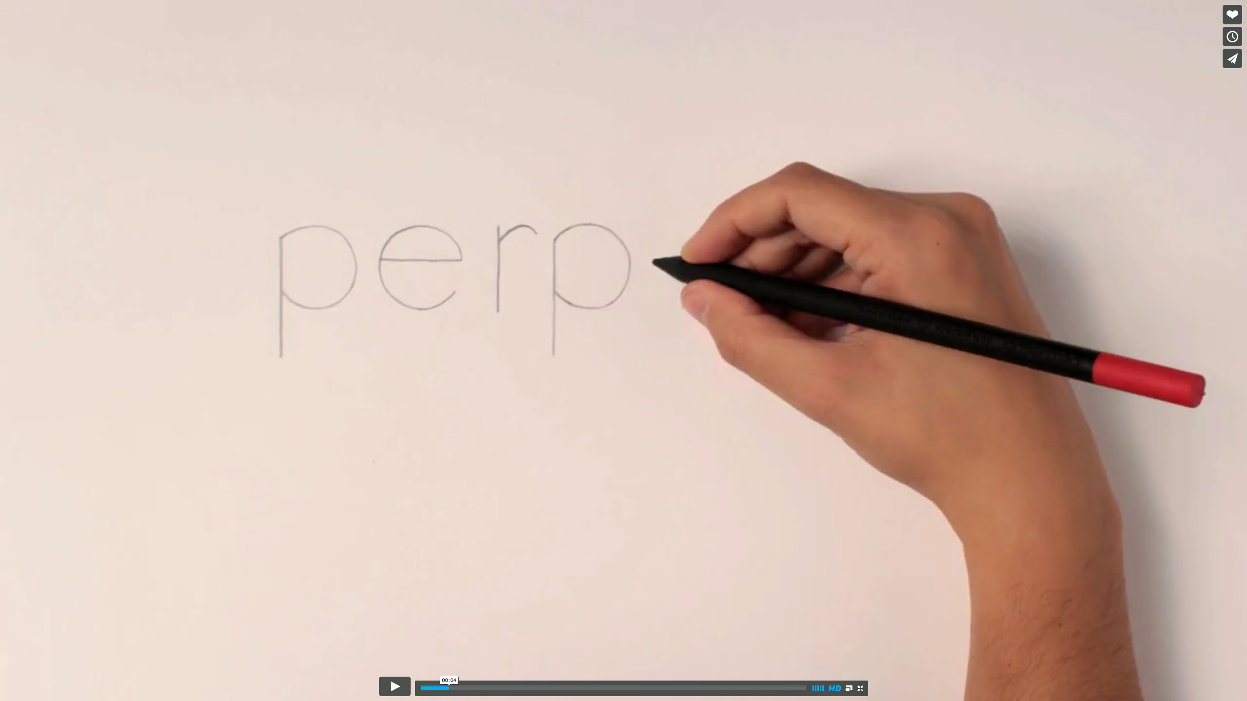 Perpetua, the pencil Viral Web Video