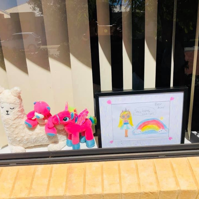 We Are Safe in Home Isolation-Window Decor By Kids.jpg