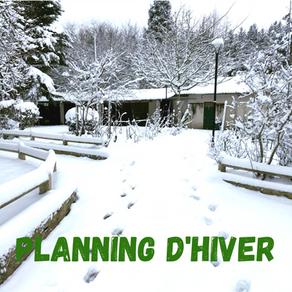 Plannings vacances d'Hiver