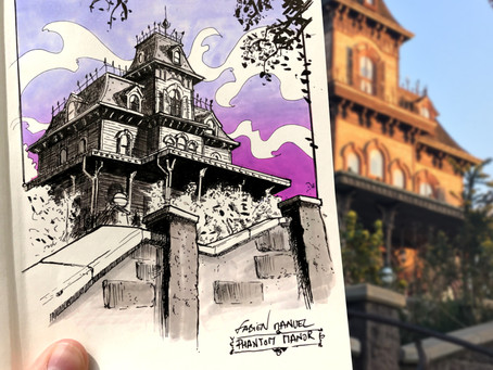 SKETCH SERIE #17 : Disneyland Paris - Phantom Manor