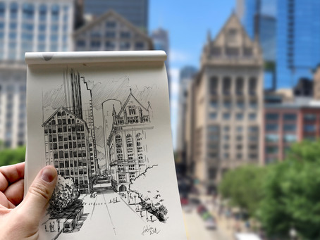 SKETCH SERIE #4 : Chicago - USA