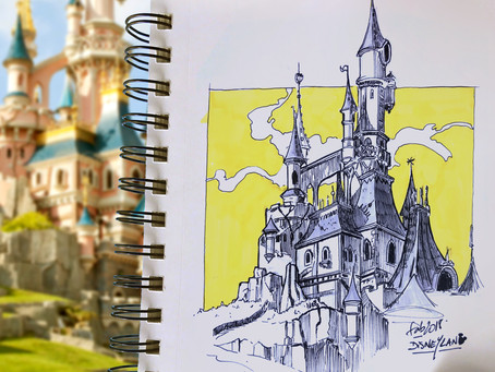SKETCH SERIE #15 : Disneyland Paris Castle