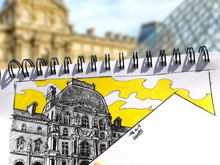 SKETCH SERIE #10 : Louvre Rivoli - Paris